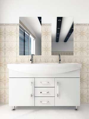 double sink vanity white. 48  Celine Double Sink Vanity White Bathgems com