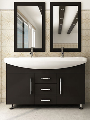 Celine Double Bathroom Vanity Espresso Bathgemscom - 47 bathroom vanity sink cabinet