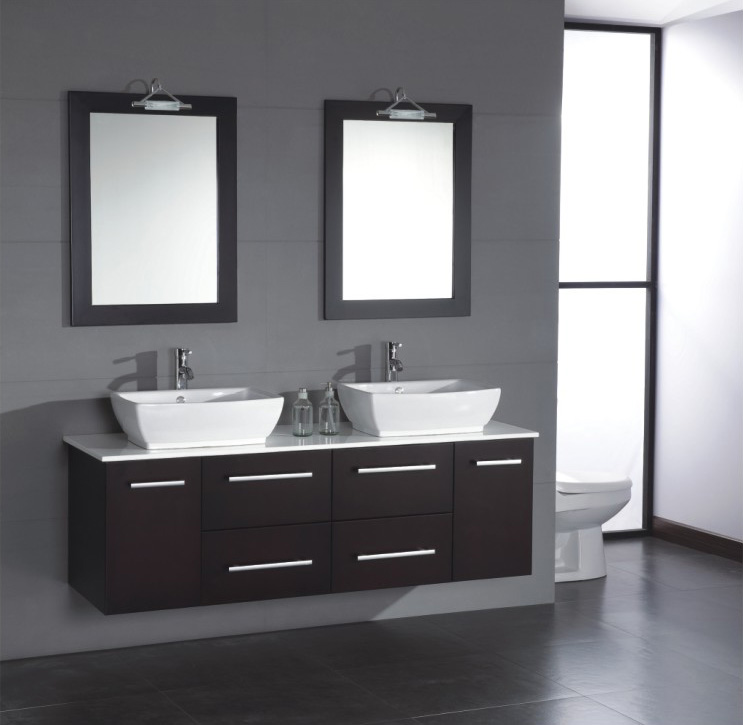 How to create a better looking bathroom using modern for Looking for bathroom vanities