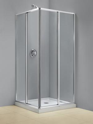 DreamLine Cornerview Framed Sliding Shower Enclosure and SlimLine ...