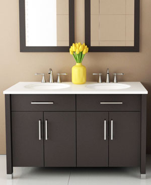 48  Mini Rana Double Sink Vanity 49 54 Inch Bathroom Vanities Bathgems com