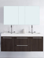 54 inch bathroom vanity double sink. 54  Opulento Double Sink Vanity Gray Oak 49 Inch Bathroom Vanities Bathgems com