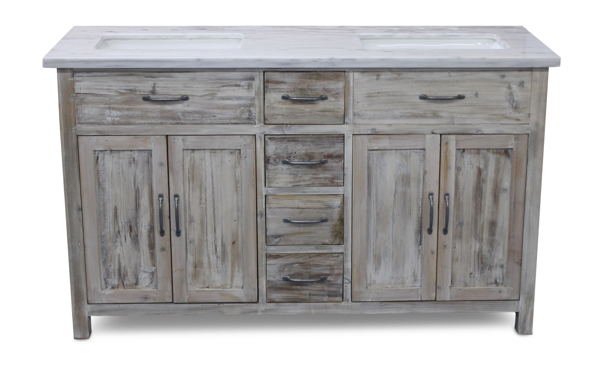 55 Inch Bathroom Vanity. 59 75 Woodland Italian Carrara Marble White Washed Pine