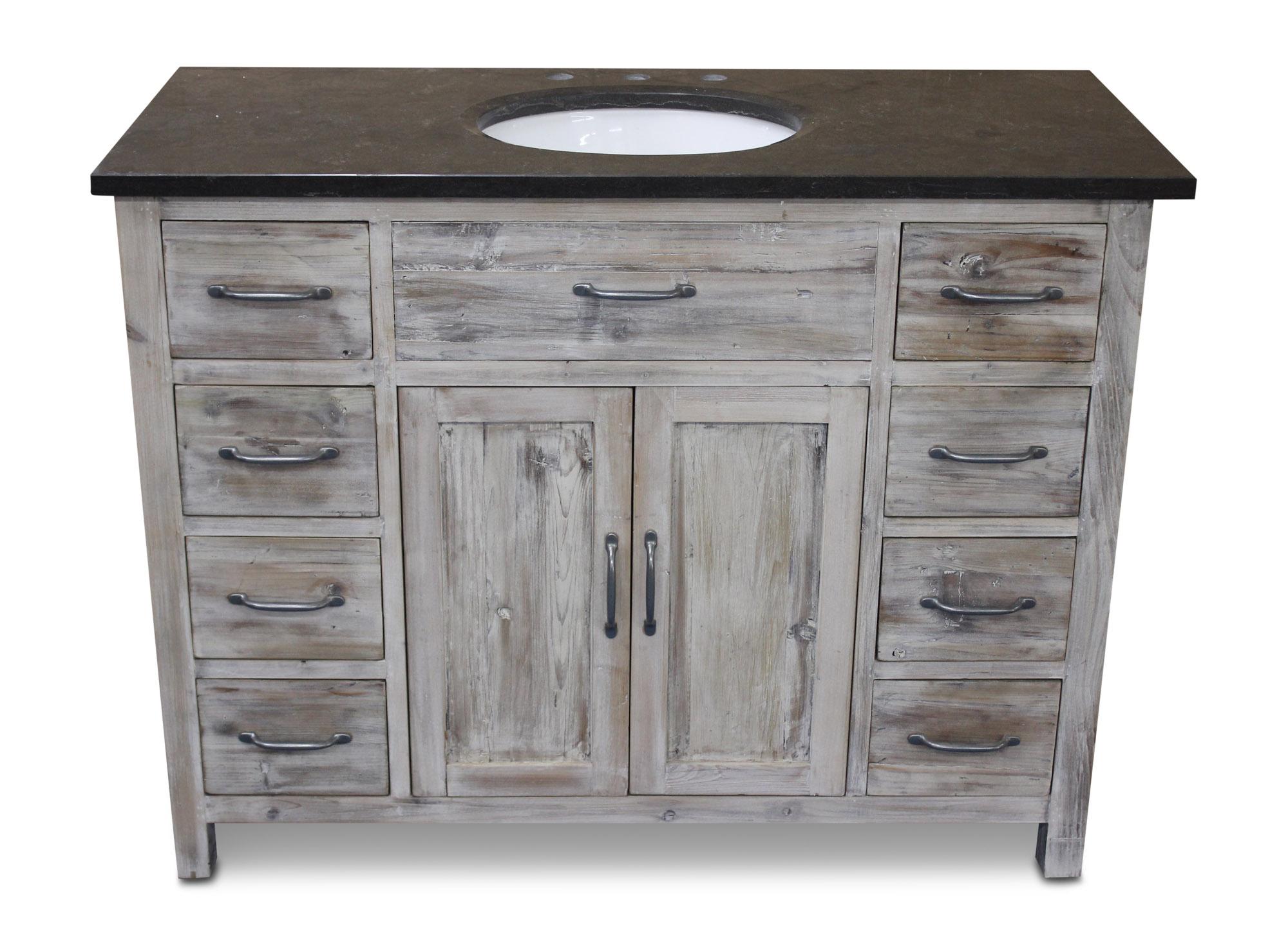 475 woodland bluestone white washed pine - Antique White Bathroom Vanity