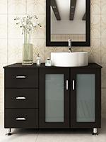 Bathroom Vanity Black single sink bathroom vanities - bathgems