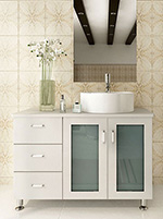 39 Lune Single Vessel Sink Vanity White