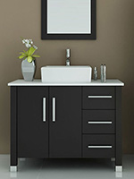 37 inch bathroom vanity. 39 5  Crater Single Vessel Sink Vanity Stone Top 37 42 Inch Bathroom Vanities Bathgems com