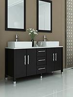 double vessel sink vanity. 59  Sirius Double Vessel Sink Vanity Stone Bathroom Vanities Bathgems com