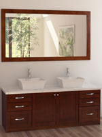 60 Quot Moscony Double Sink Vanity White Bathgems Com