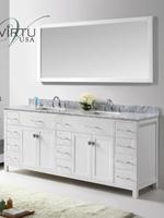 double sink vanity white. 79  Caroline Parkway Double Sink Vanity White 60 Peruga Antique Bathgems com