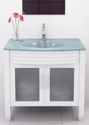 glass bathroom vanities - bathgems