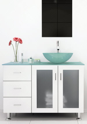 Bathroom Vanity Glass Top glass bathroom vanities - bathgems