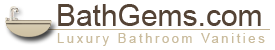 "Bathgems.com - Bathroom Vanities - Topless Vanities - 61"" Morena Double Sink Vanity"