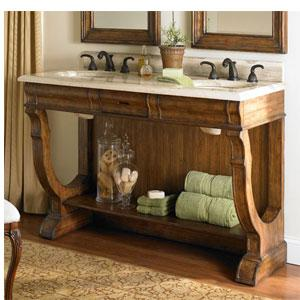 Double Bathroom Vanities on 60  Double Gershwin Double Sink Chest