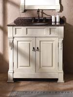"36"" Genoa Single Bath Vanity - Antique White"