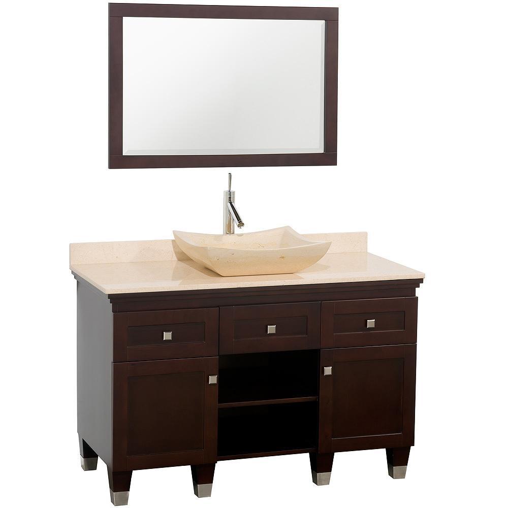 Single Vessel Sink Vanity : 48