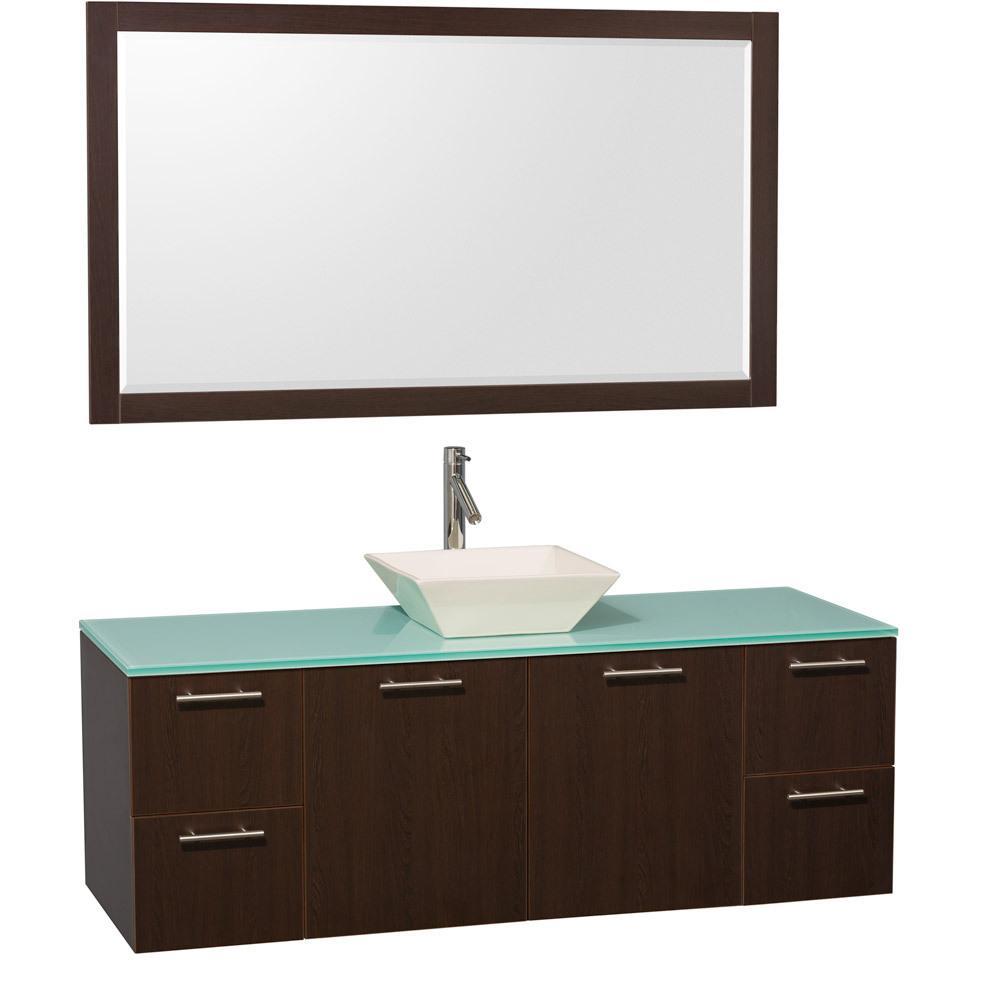 Single Vessel Sink Vanity : 60