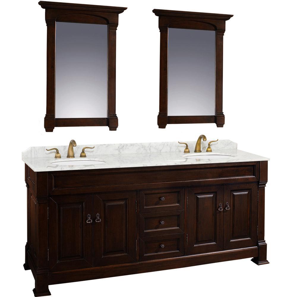 72 Andover Double Sink Vanity Dark Cherry
