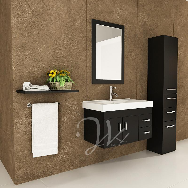 35 5 Quot Lyra Single Bathroom Vanity Espresso Bathgems Com
