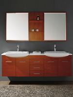 "71"" Bowman Double Sink Vanity - Maple"